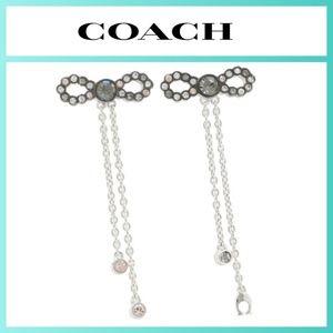 COACH Bow Chain Drop Earrings
